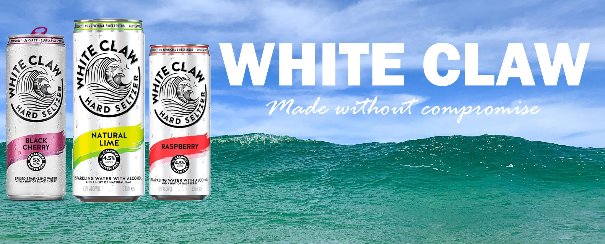White Claw Hard Seltzer - made without compromise!