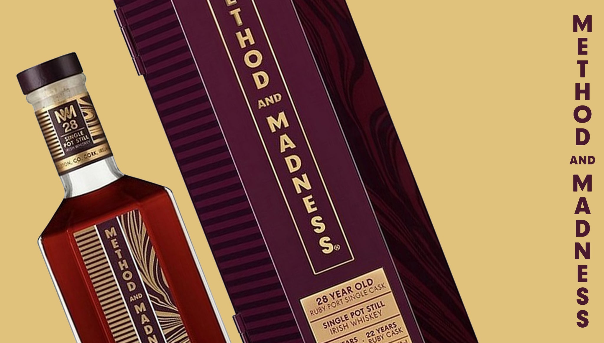 Method and Madness 28 Year Old Single Pot Still. Limited Edition.