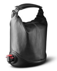 Black Leather Look Wine Purse