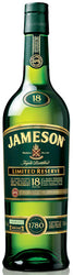 Jameson 18 Year Old Limited Reserve Blended Irish Whiskey, County Cork, Ireland.