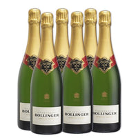 6x Bollinger Champagne 75cl