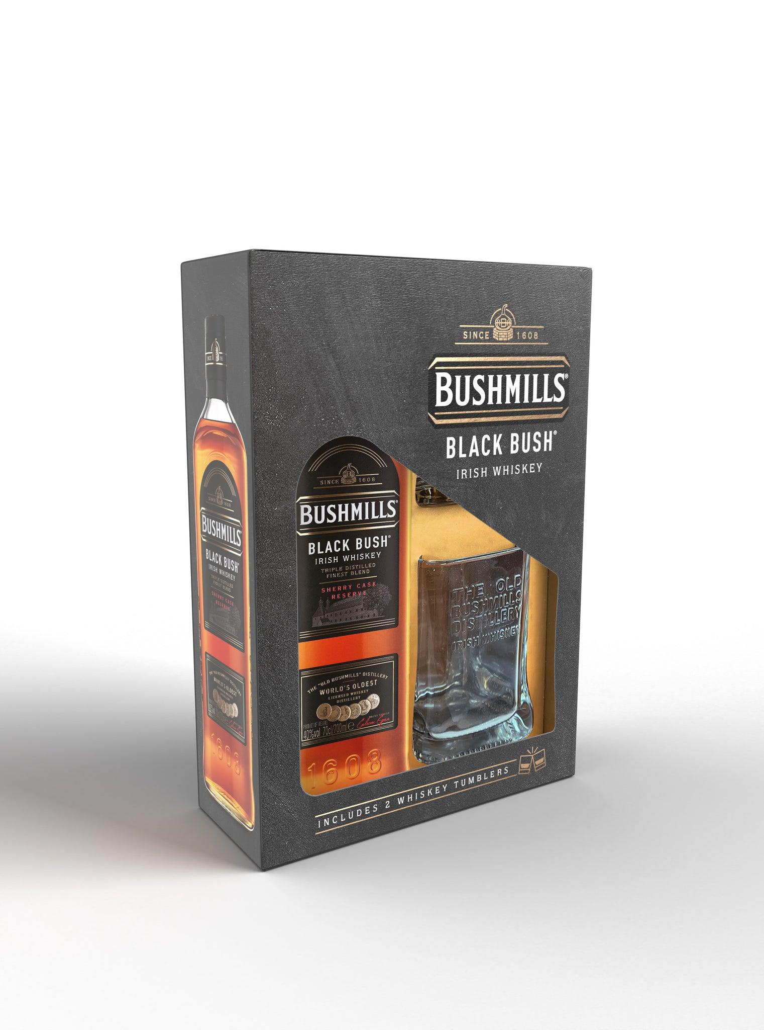 Bushmills Black Bush Glass Pack 70cl