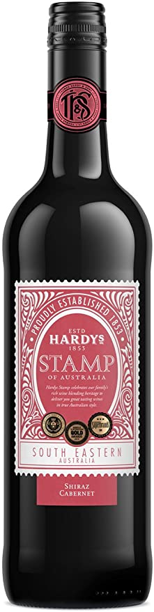 Hardys Stamp Shiraz Cabernet, South Eastern Australia.