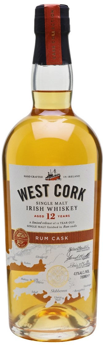 West Cork Irish Whiskey Rum Cask