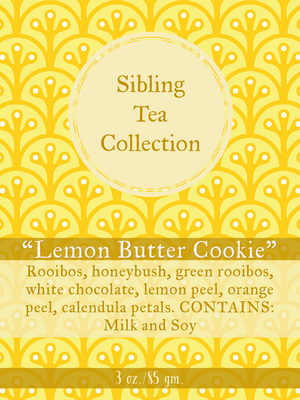 "TEA/ LOOSE LEAF ""Lemon Butter Cookie"" 3oz. Tin"
