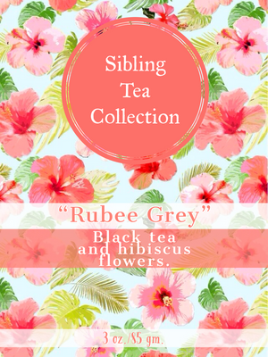 "TEA/ LOOSE LEAF ""Rubee Grey"" 3oz. Tin"