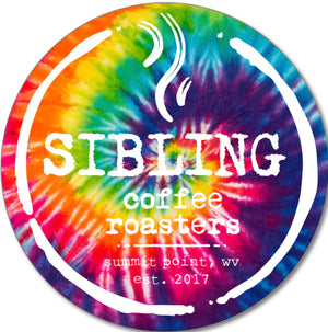 Limited Edition Sibling Tie Dye Vinyl Sticker/ 3 inches