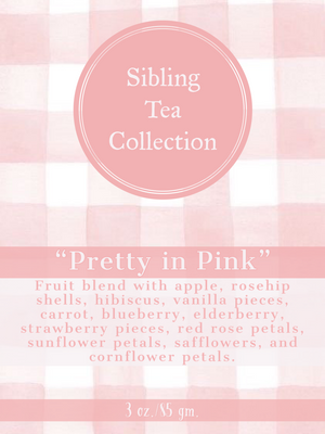 "TEA/ LOOSE LEAF ""Pretty In Pink"" 3oz. Tin"