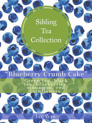 "TEA/ LOOSE LEAF ""Blueberry Crumb Cake""  3 oz. Tin"