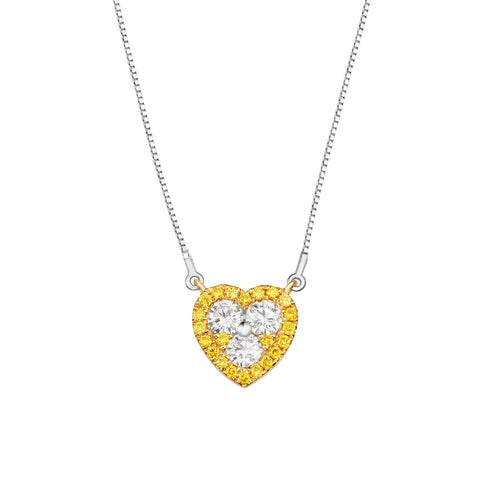 Fancy Diamond Loving Reina Necklace
