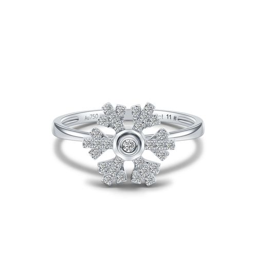 Felicity Snow Ring - White Gold