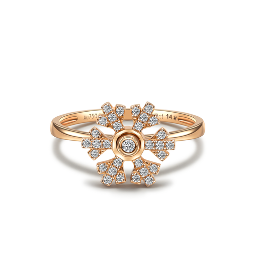 Felicity Snow Ring - Rose Gold