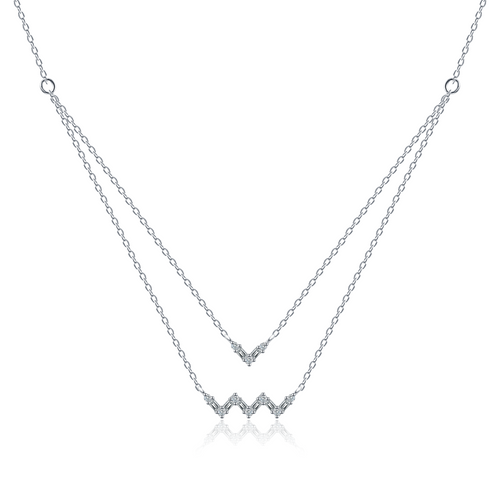 Fancy Diamond Riviere of Stars Necklace