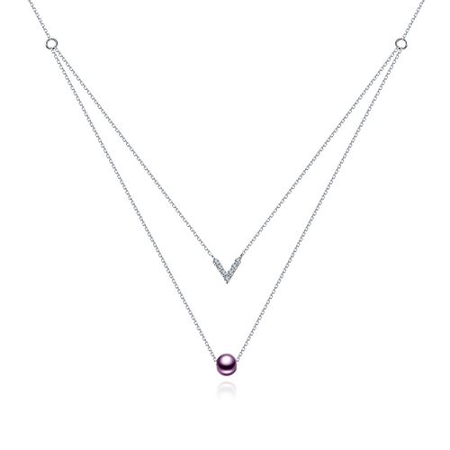 PurpleGold Izella Necklace