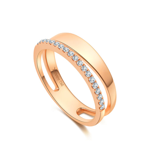 Destinée Double Band Ring
