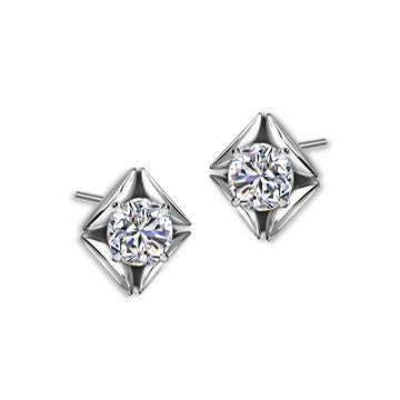 Eternal White Gold Pave Earring