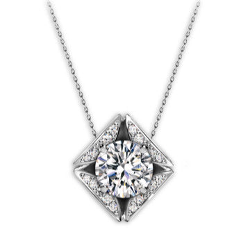 Eternal Pavé Diamond Necklace