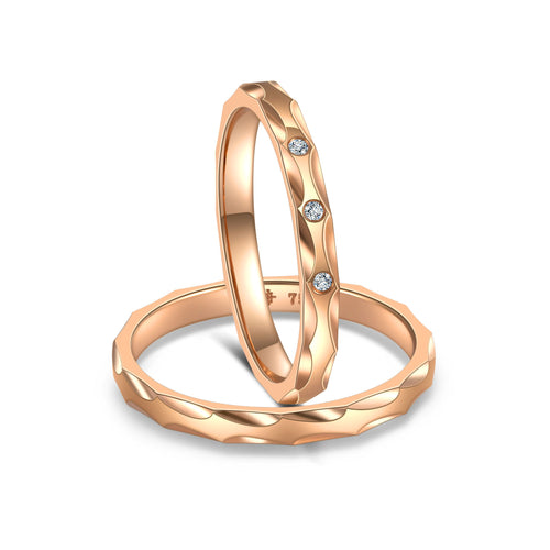 Jorn Rainer Love Facets Rings - Hers