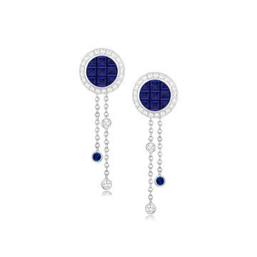 Mosaic Blue Sapphire Earrings