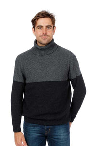 Polo Neck Two Tone Sweater