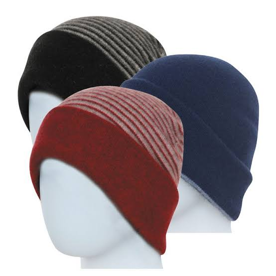 Double Layer Beanie Reversible