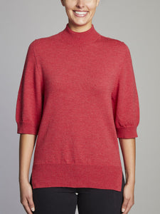 Hall Relaxed 3/4  Sleeve Merino Wool Knit Jumper