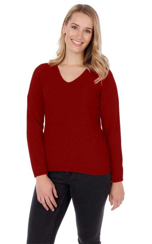 Vee Neck Plain Sweater