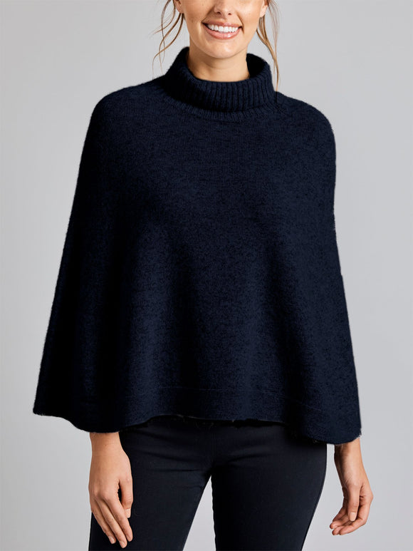 Melbourne Roll Neck Poncho