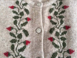 Button to Neck Climbing Petal Cardigan