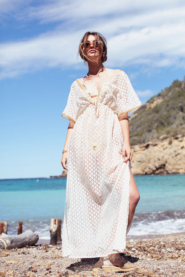 Es Cavallet Lace Maxi Dress- Yangzom Ibiza