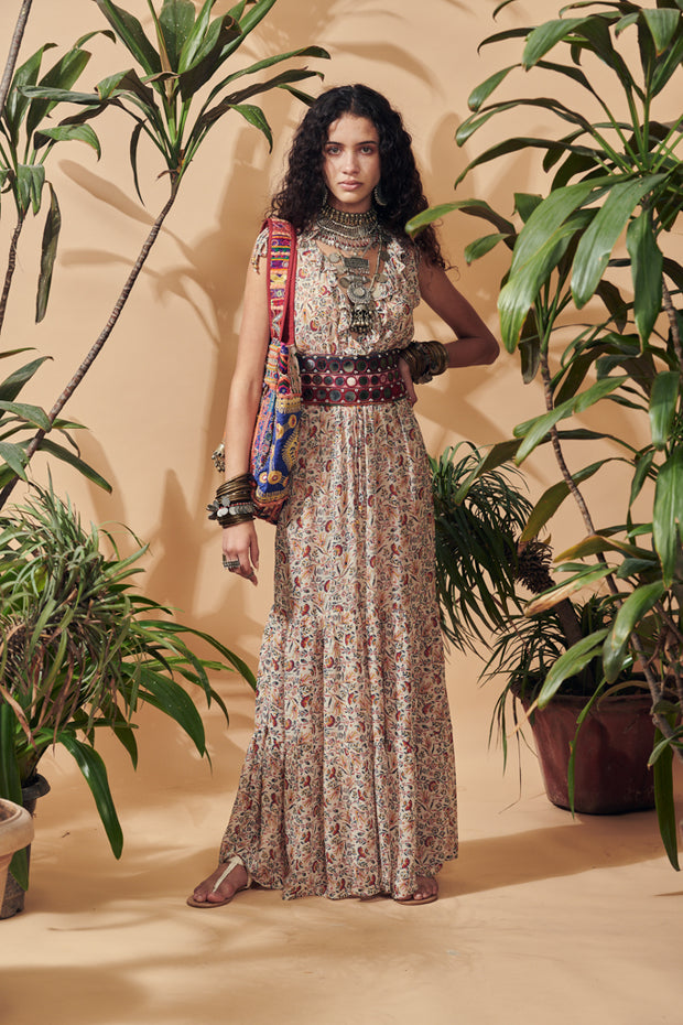Es Pouet Viscose Bohemian Maxi Dress