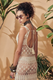 Eivissa Lace Backless Dress