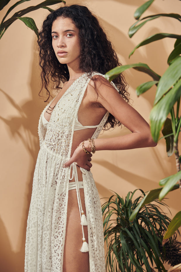 S'Espalmador beaded Cover up