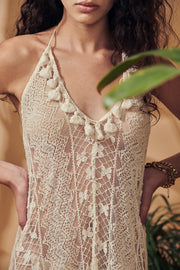 Porroig Lace Backless Cover Up