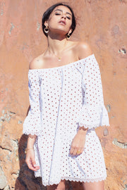 Cap Blanc Off Shoulder Cut Out Tunic - Yangzom