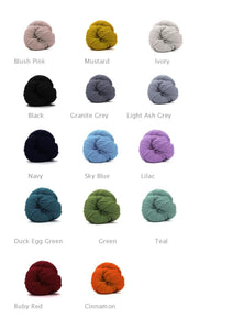 king and eye super chunky yarn super bulky wool colour chart