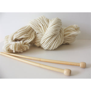 12mm Bamboo Knitting Needles - Perfect For Chunky Knitters-King & Eye