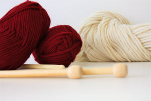 Ruby Red Chunky Merino Knitting Wool Yarn  King And Eye