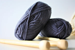 Granite grey super chunky wool Super bulky wool King and Eye