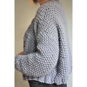 Knitting Pattern - Chunky Knit Cropped Cardigan-King & Eye