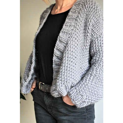 Knitting Pattern - Chunky Knit Cropped Cardigan - King & Eye
