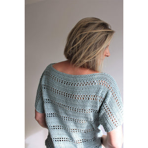Easy Summer Tee Crochet Pattern - Tavira Tee-Patterns & Kits-King & Eye