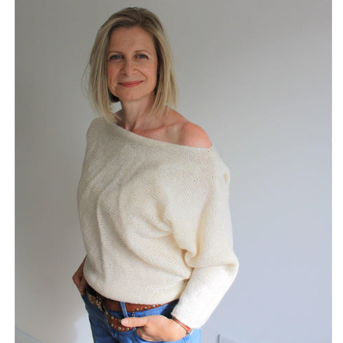 Beginners Batwing Sweater Knitting Pattern-Patterns & Kits-King & Eye