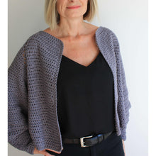 Load image into Gallery viewer, Balloon Sleeve Cardigan - Easy Crochet Pattern-King & Eye