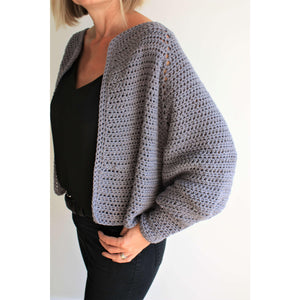 Balloon Sleeve Cardigan - Easy Crochet Pattern-King & Eye