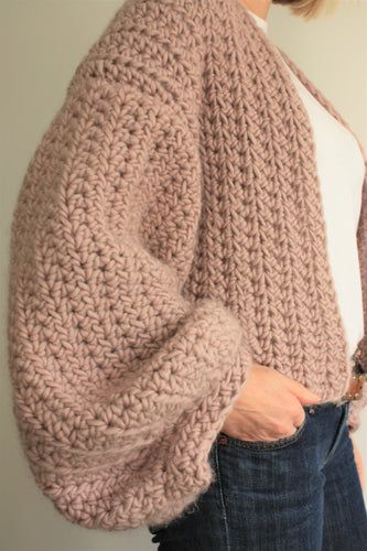 cropped balloon sleeve easy crochet pattern