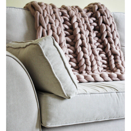 Chunky Knit Blanket - Ribbed Design - King & Eye