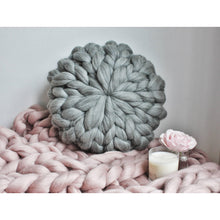 Load image into Gallery viewer, Chunky Knit Round Merino Pillow-Cushions & Pillows-King & Eye