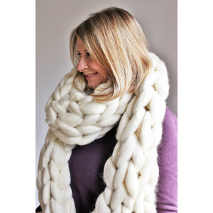 Oversize Chunky Knit Scarf-Hats & Scarves-King & Eye