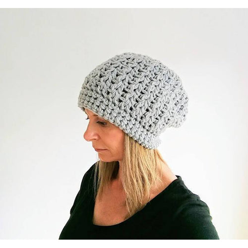 Crochet Pattern - Womens Crochet Slouchy Beanie - King & Eye